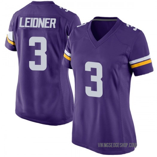Nike Mitch Leidner Minnesota Vikings Game Purple Team Color Jersey - Women's