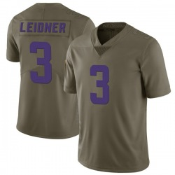 Nike Mitch Leidner Minnesota Vikings Limited Green 2017 Salute to Service Jersey - Youth