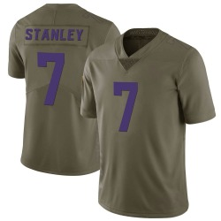 Nike Nate Stanley Minnesota Vikings Limited Green 2017 Salute to Service Jersey - Youth