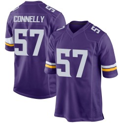 Nike Ryan Connelly Minnesota Vikings Game Purple Team Color Jersey - Men's
