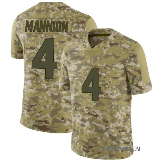 Nike Sean Mannion Minnesota Vikings Limited Camo 2018 Salute to Service Jersey - Men's