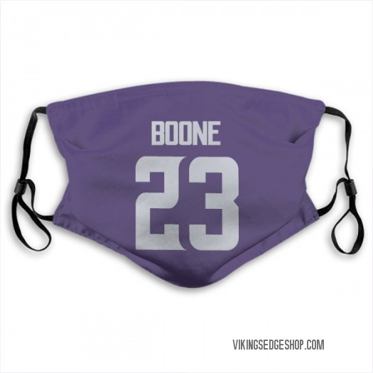 Mike Boone Minnesota Vikings Purple Jersey Name & Number Face Mask