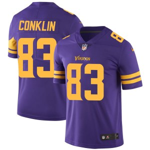 Nike Tyler Conklin Minnesota Vikings Limited Purple Color Rush Jersey - Youth