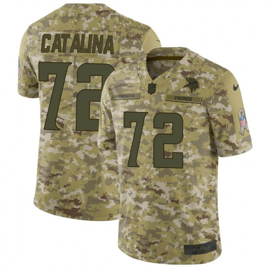 Nike Tyler Catalina Minnesota Vikings Limited Camo 2018 Salute to Service Jersey - Men's