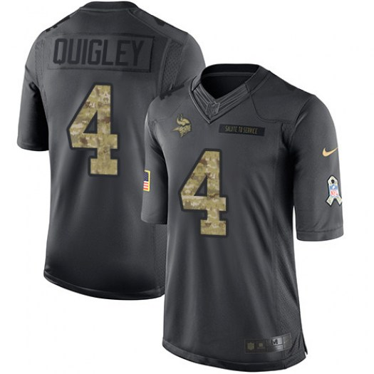 Nike Ryan Quigley Minnesota Vikings Limited Black 2016 Salute to Service Jersey - Men's