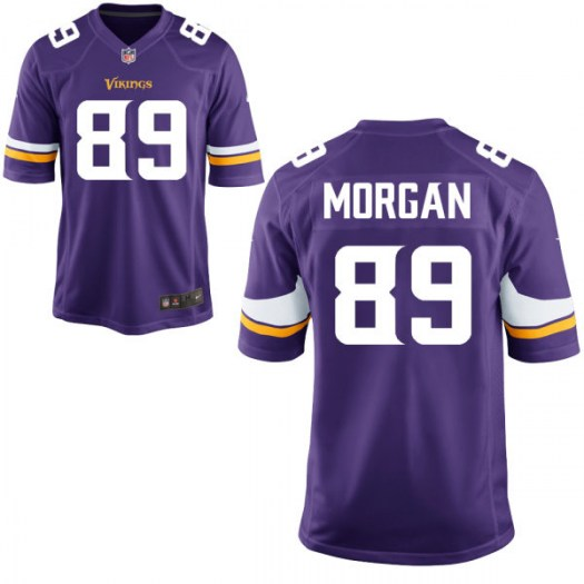 Nike David Morgan Minnesota Vikings Game Purple Jersey - Men's