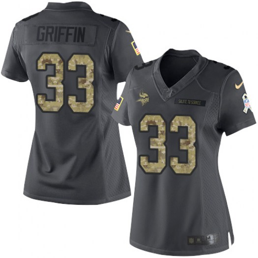 Nike Michael Griffin Minnesota Vikings Limited Black 2016 Salute to Service Jersey - Women's